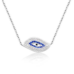 Womens Eye Plating Titanium Steel Necklaces OK190423118924's discount tags