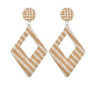 Womens Rhinestone  Hollow Fabric Earrings BQ190423118935's discount tags