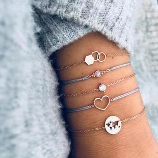 Womens Love Map Plating Alloy Bracelets & Bangles BQ190423118938's discount tags