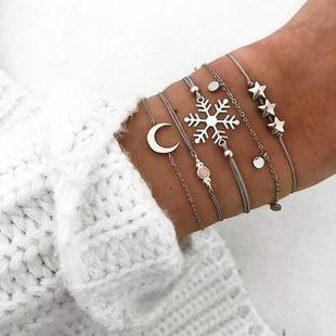 Womens Pentagon Crescent Snowflake Plating Alloy Bracelets & Bangles BQ190423118937's discount tags