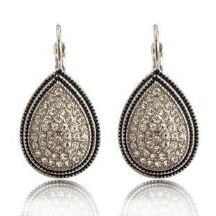 Womens Geometric Rhinestone Alloy Earrings KQ190423118944's discount tags