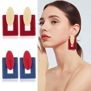 Womens Geometric Plastic / Resin Earrings KQ190423118949's discount tags