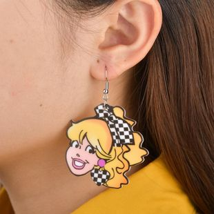 Womens Doll Plastic / Resin MISS FASHION Temperament exaggerated earrings BQ190423118950's discount tags