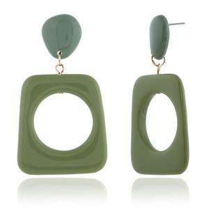 Womens Geometric Plastic / Resin Earrings KQ190423118955's discount tags