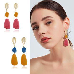 Womens Geometric Plastic / Resin Earrings KQ190423118961's discount tags