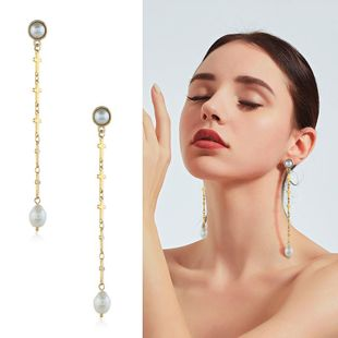 Womens geometric inlay imitated crystal alloy Earrings KQ190423118965's discount tags