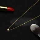 Womens teardropshaped plated stainless steel Omega card Necklaces OK190423118912