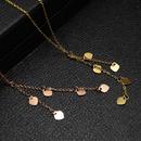 Womens leaf  Fashion little heart titanium steel Necklaces OK190423118929