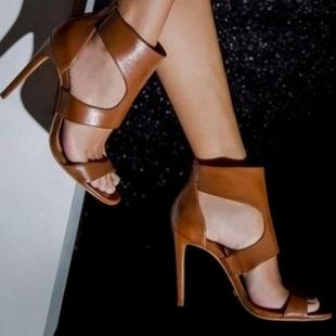 Hollow Roman shoes sexy fashion high heel sandals SO190424118985's discount tags