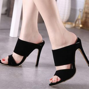 High-heeled suede hollow sandals Roman sexy women s shoes SO190424118991's discount tags