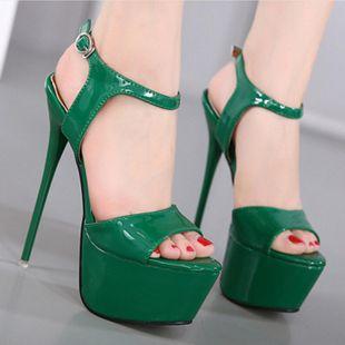 Sexy high heel sandals waterproof platform hollow open toe SO190424119004's discount tags