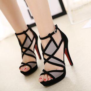 Waterproof platform, versatile temperament shoes, sandals SO190424119016's discount tags
