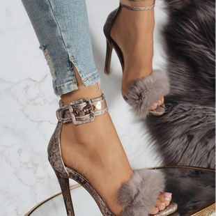 One word high heel sandals hollow sexy shoes SO190424119022's discount tags