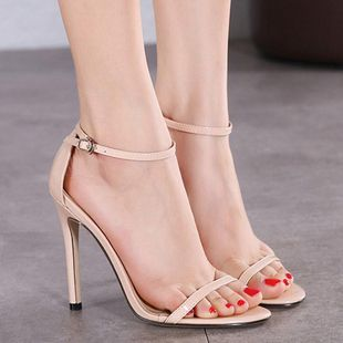 Summer hollow women s shoes foreign trade new European and American large size high heels SO190424119035's discount tags
