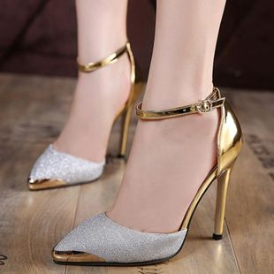 Fashion sexy pointed one-button buckle high heel women s shoes SO190424119046's discount tags