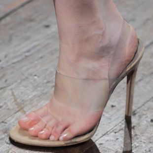 Transparent cool sexy high heel sandals fashion women s shoes SO190424119047's discount tags