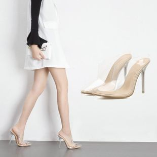 Joker pointed sexy imitated crystal sandals women s slippers SO190424119051's discount tags