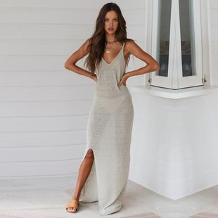 Sexy split long dress DF190425119123's discount tags