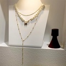 Womens Geometric Temperament shaped beadss stacked in multiple layers Beads Necklaces YQ190426119444