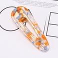 NHOF33593-Orange-jelly-color-oval-hair-clip