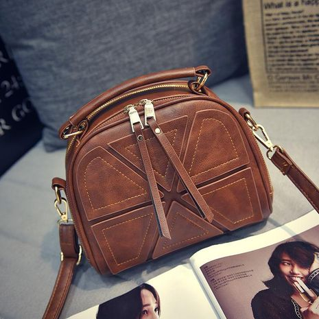 Solid color retro big bag casual mobile diagonal package XC190427119592's discount tags