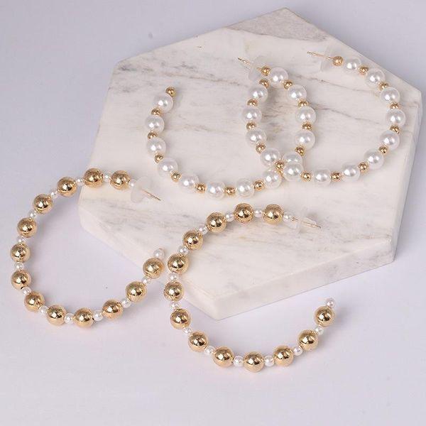 Womens Geometric Inlay Beads  tassel Alloy Earrings JJ190429119662