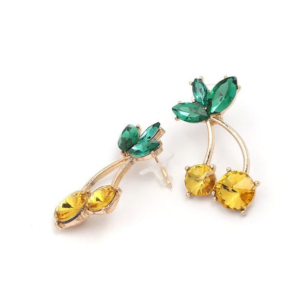 Womens Cherry Rhinestone Alloy Earrings JJ190429119672