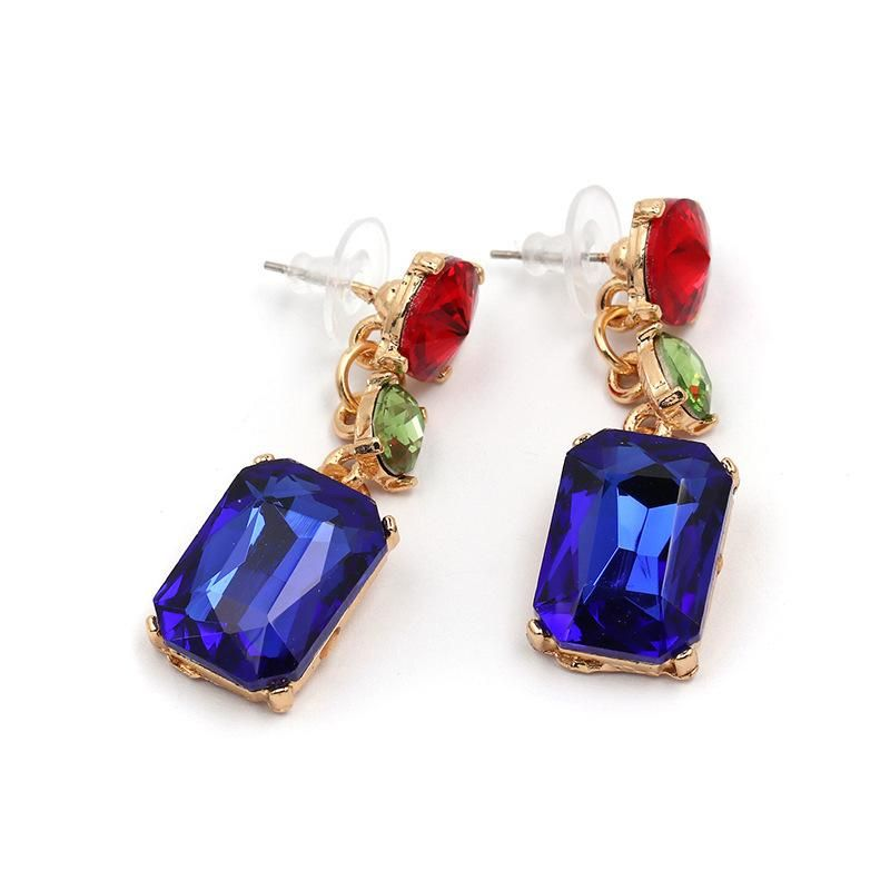 Womens Geometric Rhinestone Alloy Earrings JJ190429119692