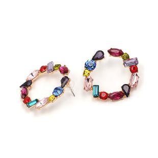 Womens Geometric Rhinestone Alloy Earrings JJ190429119706's discount tags