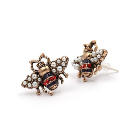 Womens Honey Mixed Material Honey inlaid beads drill  Earrings JJ190429119718's discount tags