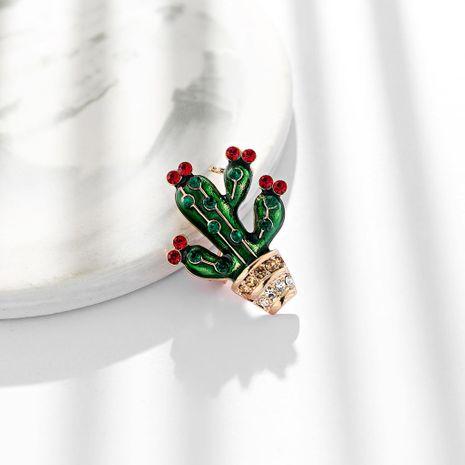 Flor de mujer Personalidad gotero aleación que gotea planta verde cactus Broches de aleación DR190429119781's discount tags
