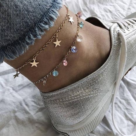 Womens geometric plating alloy ankle bracelet GY190429119799's discount tags