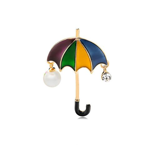 Womens umbrella drop oil alloy Brooches DR190429119802's discount tags
