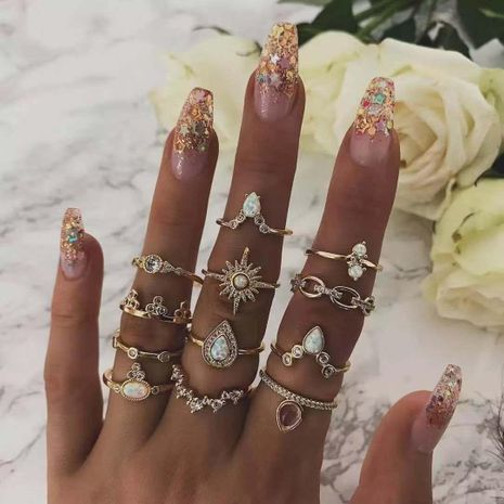 Womens Heart Plating Alloy Rings GY190429119804's discount tags