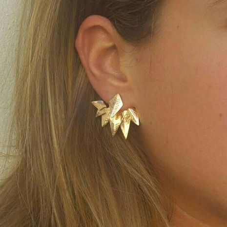 Womens Leaf Plating Alloy Fashion creative personality Earrings GY190429119811's discount tags