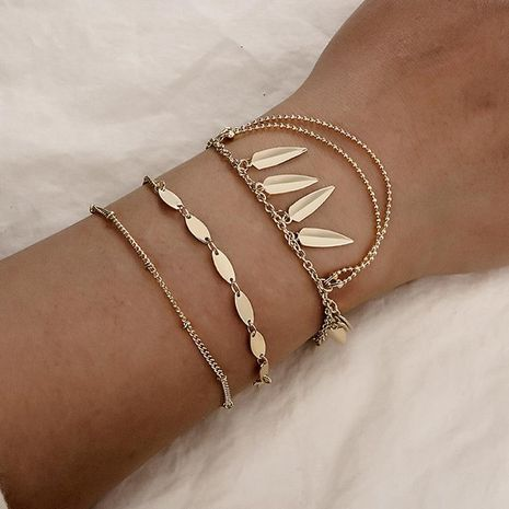 Womens Leaf Plating Fashion popular creative round beads tassel Alloy Bracelets & Bangles GY190429119820's discount tags