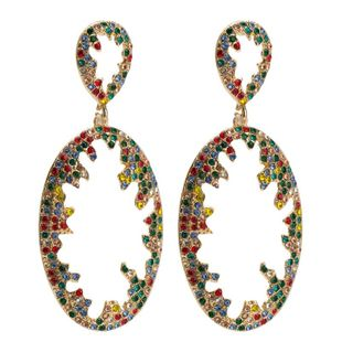 Womens Geometric Rhinestone hollow  Acrylic Earrings JE190429119846's discount tags