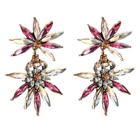 Womens Floral  Fashion flower Acrylic Earrings JE190429119849's discount tags
