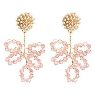 Womens Floral  Beads acrylic flower Acrylic Earrings JE190429119850's discount tags