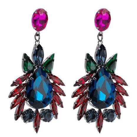 Womens Geometric  Drop-shaped acrylic Acrylic Earrings JE190429119852's discount tags