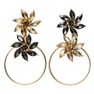 Womens Floral Rhinestone  Multi-layered flower with rhinestones Alloy Earrings JE190429119861's discount tags
