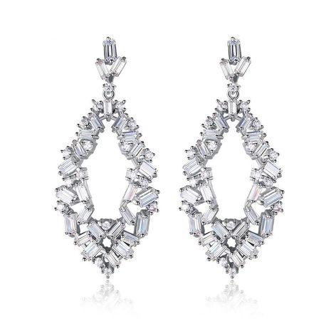 Womens Geometric Gemstone Copper Nether Earrings TM190429119881's discount tags