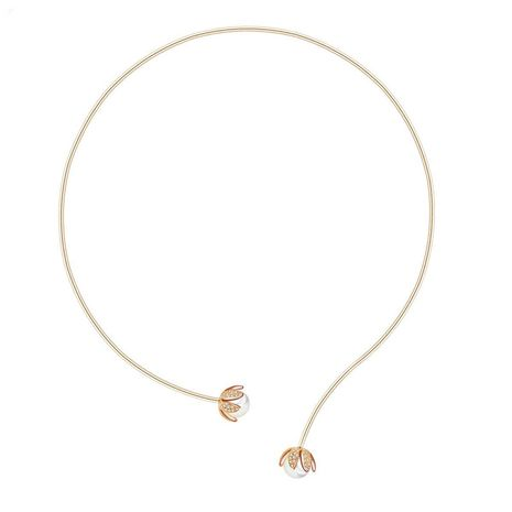 Womens Floral Copper fashion Zircon Necklaces TM190429119898's discount tags