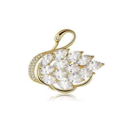 Womens geometric copper inlaid AAA zircon brocade Brooches TM190429119915's discount tags
