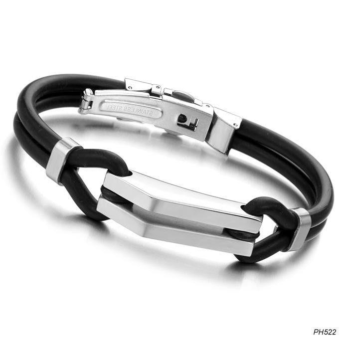 Unisex Geometric Silicone Bracelets & Bangles OP190429119916