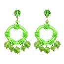 Womens Geometric Plastic Big geometric ball Earrings JJ190429119681