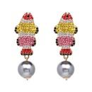 Womens Fish Rhinestone Alloy Earrings JJ190429119689