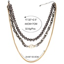 Womens Ushaped electroplated aluminum chain Necklaces CT190429119711