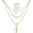 Womens teardropshaped electroplated aluminum chain Necklaces CT190429119725