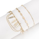 Womens Leaf Plating Fashion popular creative round beads tassel Alloy Bracelets amp Bangles GY190429119820